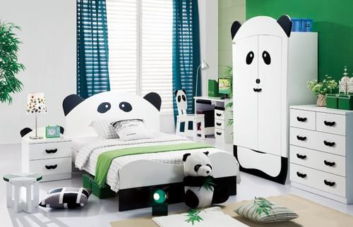 How cute is this Panda theme bedroom!