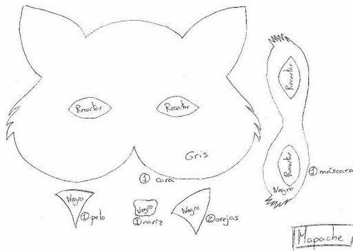 Plantilla de mascara lobo para imprimir - Imagui