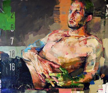 """Saatchi+Online+Artist+Andrew+Salgado;+Painting,+""""CINEMA""""+#art"""