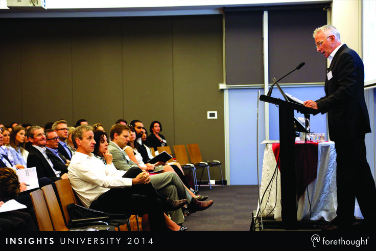Ken Roberts, Chief Executive Officer, Forethought discussing the growth constituents to gain market share through Gain (acquisition) and Retain (retention) at #InsightsUni14. www.forethought.com.au