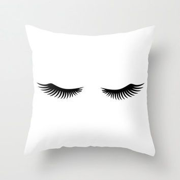 Shut Eye Throw Pillow