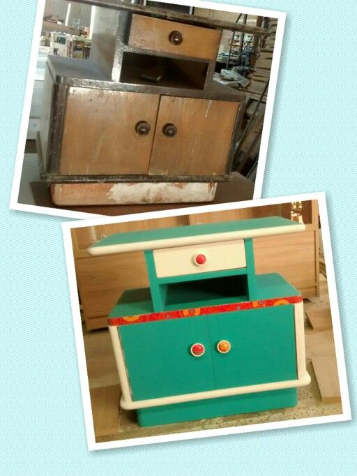 Bedside Table ❤ mesita de Luz!  #before #after
