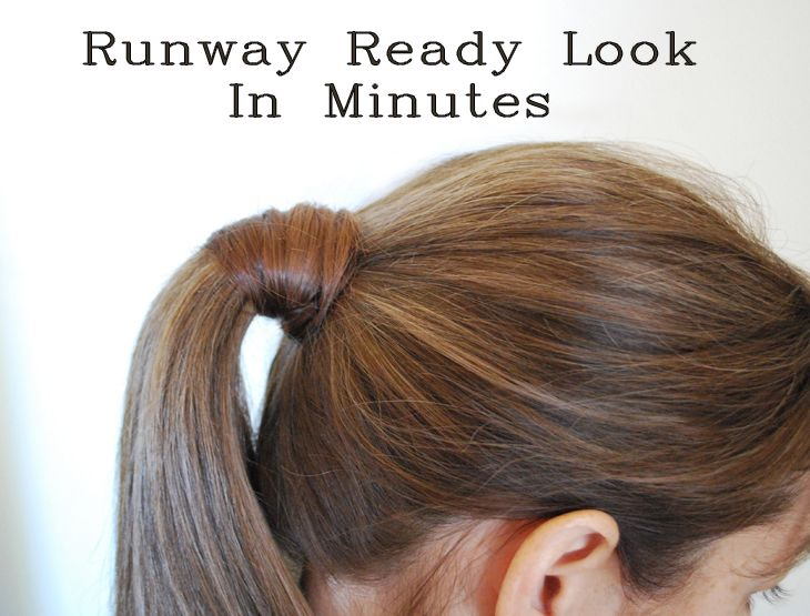 Best Účesy Images On Pinterest Hair Dos Horse Tail And - Diy ponytail wrap