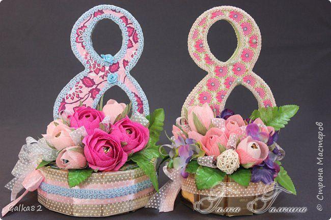 Свит-дизайн 8 марта Моделирование конструирование подарки к 8 марта Бумага гофрированная фото 10