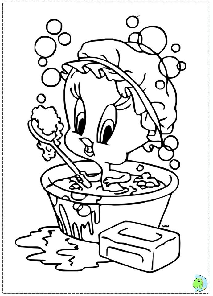 looney tunes themed coloring pages - photo#48