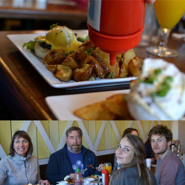 Yolks breakfast in Vancouver #yvr #family #hash #browns #eggs