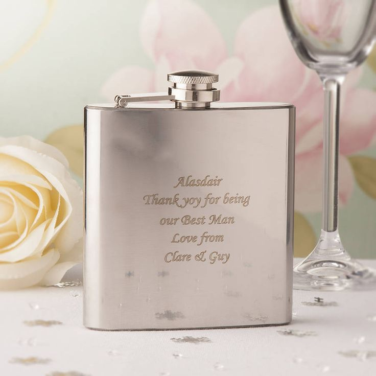 personalised hip flask by the contemporary home | notonthehighstreet.com