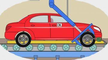 """Мультик - Раскраска. Учим Цвета - Как делают легковые машины - Мультики про машинки для детей http://video-kid.com/10055-multik-raskraska-uchim-cveta-kak-delayut-legkovye-mashiny-multiki-pro-mashinki-dlja-detei.html  В этой серии развивающего мультика """"Раскраска"""" маленькие зрители узнают, как делают легковые автомобили. Может быть, их делают из дерева? Или из детского конструктора? Конечно, нет! Настоящие машины делают из металла на специальном автомобильном заводе. Чтобы создать хотя бы…"""