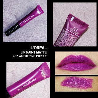 MichelaIsMyName: L'OREAL LIP PAINT MATTE 207 Wuthering Purple