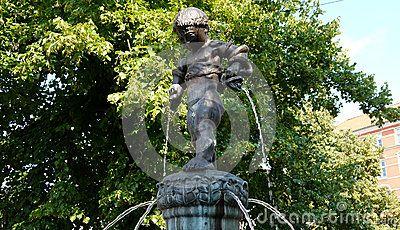Picture of a fountain, Copenhagen, Denmark.