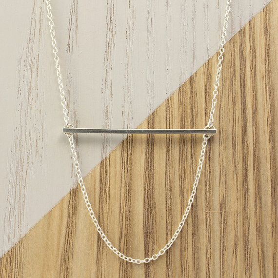 Inspired by minimalist design and long fine lines. Layer this necklace with longer styles or wear it on its own!   * Adjustable Chain Length: 40-45cm * Bar Length: 4.8cm * Sterling Silver * Clasp Fastening  Jewellery comes wrapped in acid-free tissue and sealed with a branded sticker. If you would like your item gift wrapped please contact us to discuss options.  FREE Australia-wide postage. FLAT Rate International Postage (please feel free to contact us to discuss alternative postage/sh...