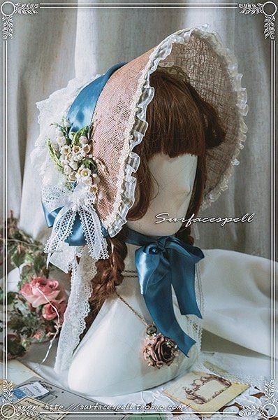 【Reservation】The rose God gave me sinamay bonnet Surfacespell