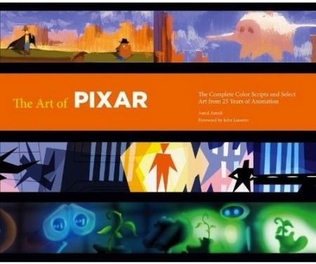 "Pixar is 25 years old this year and to celebrate Chronicle Books is publishing The Art of Pixar: 25th Anniversary: The Complete Color Scripts and Select Art from 25 Years of Animation ($50). This gorgeous, 320 page expansive book features the complete color scripts and a selection of the best of the art from the twelve films to date: ""Toy Story"", ""A Bug's Life"", ""Toy Story 2″, ""Monsters Inc."", ""Finding Nemo"", ""The Incredibles"", ""Cars"", ""Ratatouille"", ""WALL E"", ""Up"", ""Toy Story 3″ and ""Cars…"