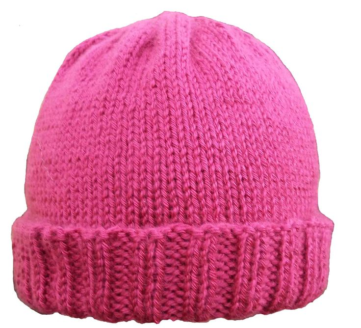 Free Knitted Hat Patterns | Ribbed Brim Hat Pattern | Kniftybits's Blog