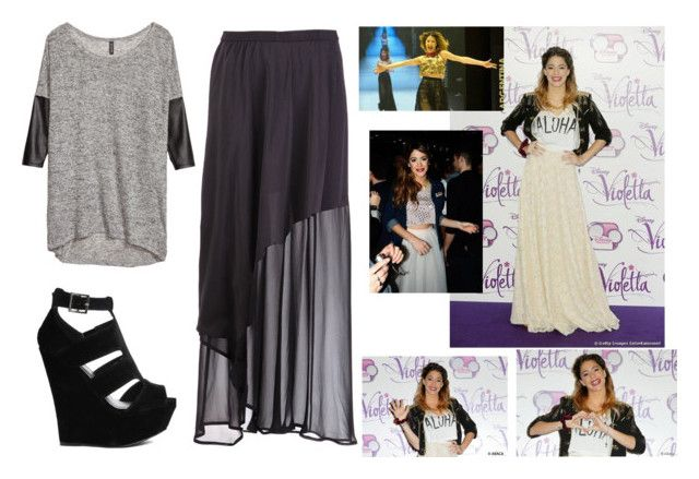 """""""tini's style"""" by la-connasse-de-france ❤ liked on Polyvore featuring H&M, Ilaria Nistri, Truffle and Disney"""