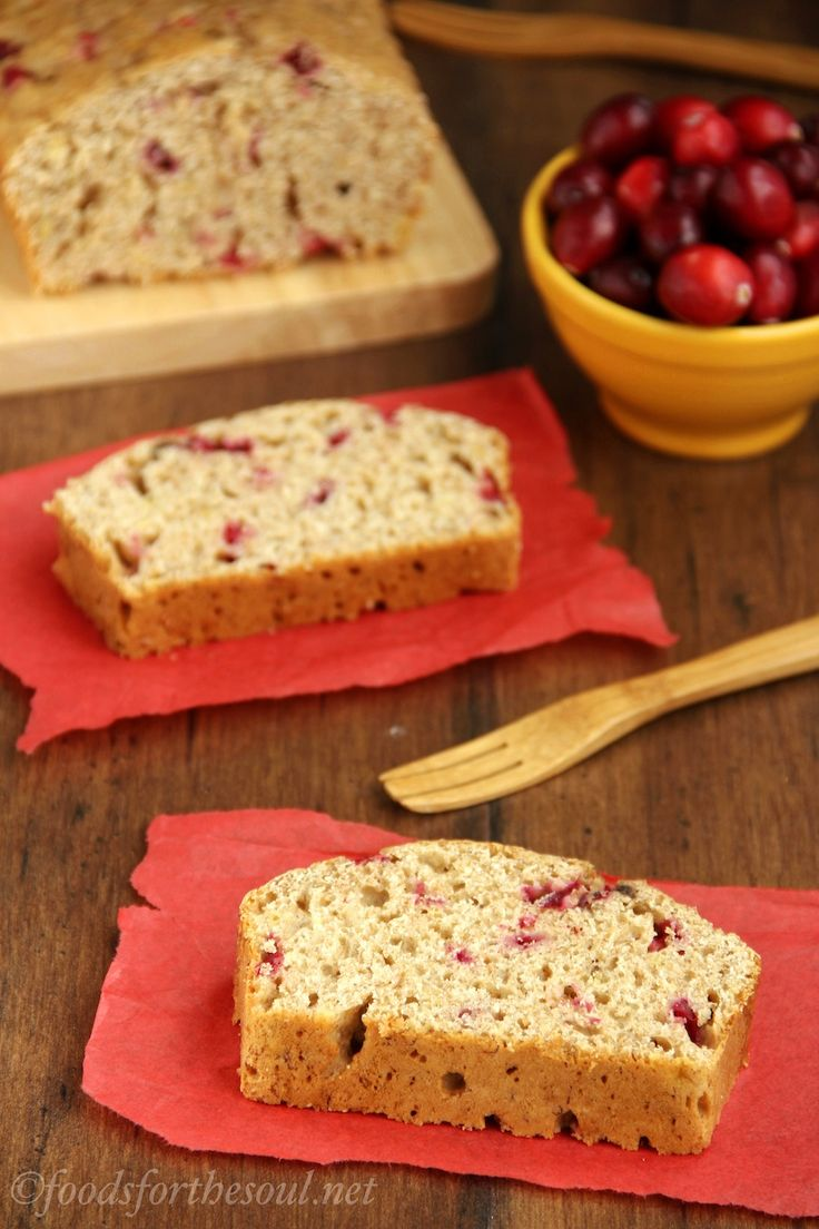 Whole Wheat Cranberry Banana Bread -- an easy recipe for a skinny ...