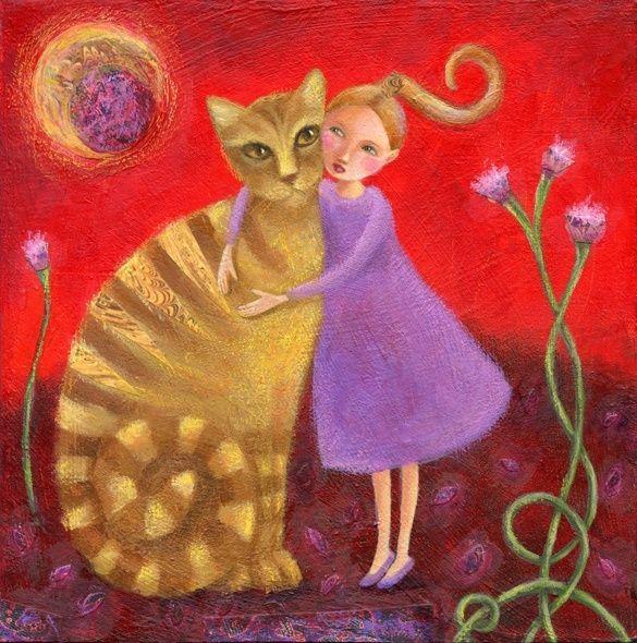 amigos, ilustración de Tanya Maiboroda