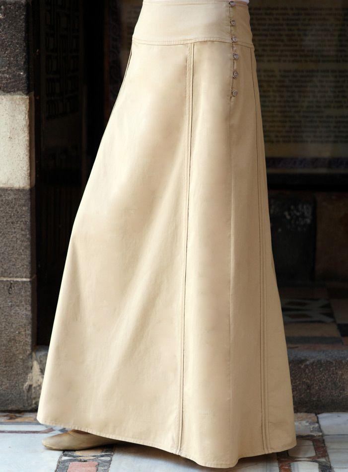 SHUKR USA | Double Trim A-Line Skirt