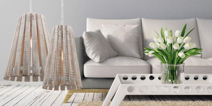 Copenhagen Pendant with white wash timber finish