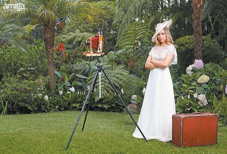 Tendencias vintage en vestidos de novia. #Wedding #Dresses #AmigaBodas #PhotoShoot #WeddingDress