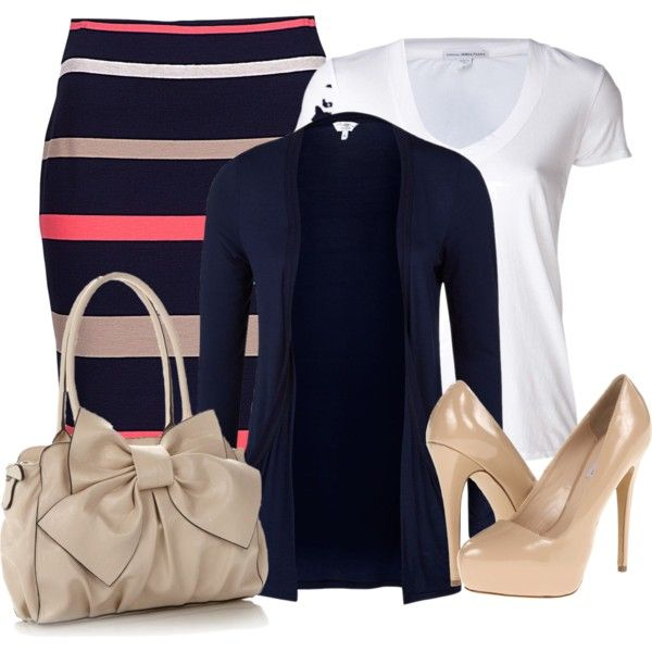 """""""Untitled #71"""" by aol4 on Polyvore. I'm pretty certain the skirt would just make me look wider, though."""