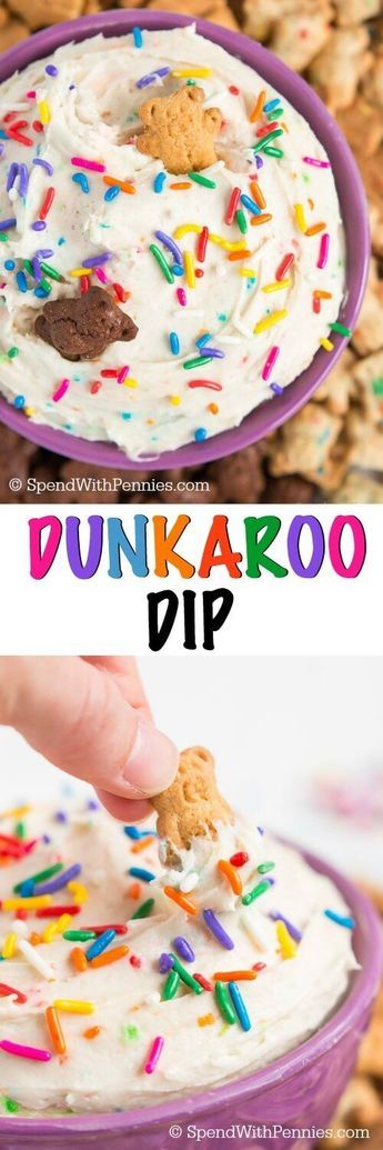 Relive the 90's with Dunkaroo Dip! With just three ingredients and three minutes you could be dunking your cookies in yummy funfetti dip.