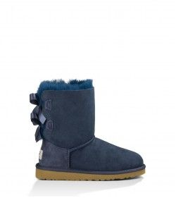 UGG Kids Bailey Bow Boots Navy 3280T Shop