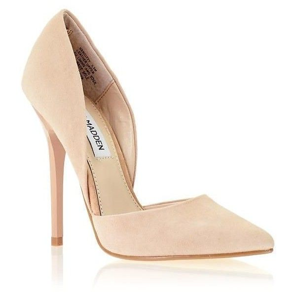 Nude Pumps by Steve Madden ❤ liked on Polyvore featuring shoes, pumps, steve madden footwear, steve madden, nude footwear, steve madden shoes and nude court shoes