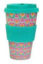 Herbruikbare koffie of thee beker met deksel. Gemaakt van bamboe. Plasticvrij Ecoffee Cup. Nooit meer koffie of thee uit een plastic kopje!