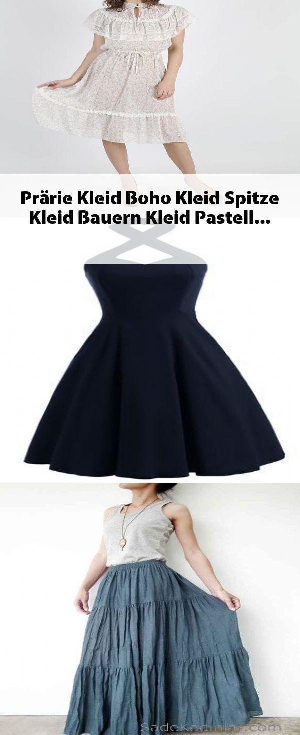 Prärie Kleid Boho Kleid Spitze Kleid Bauern Kleid Pastell #kleider