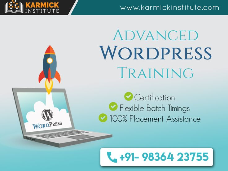 Become a Certified #WordPress #Developer at Karmick Institute. A 45-day course to groom your career http://ht.ly/6frZ30axxX8/ +91-9836423755