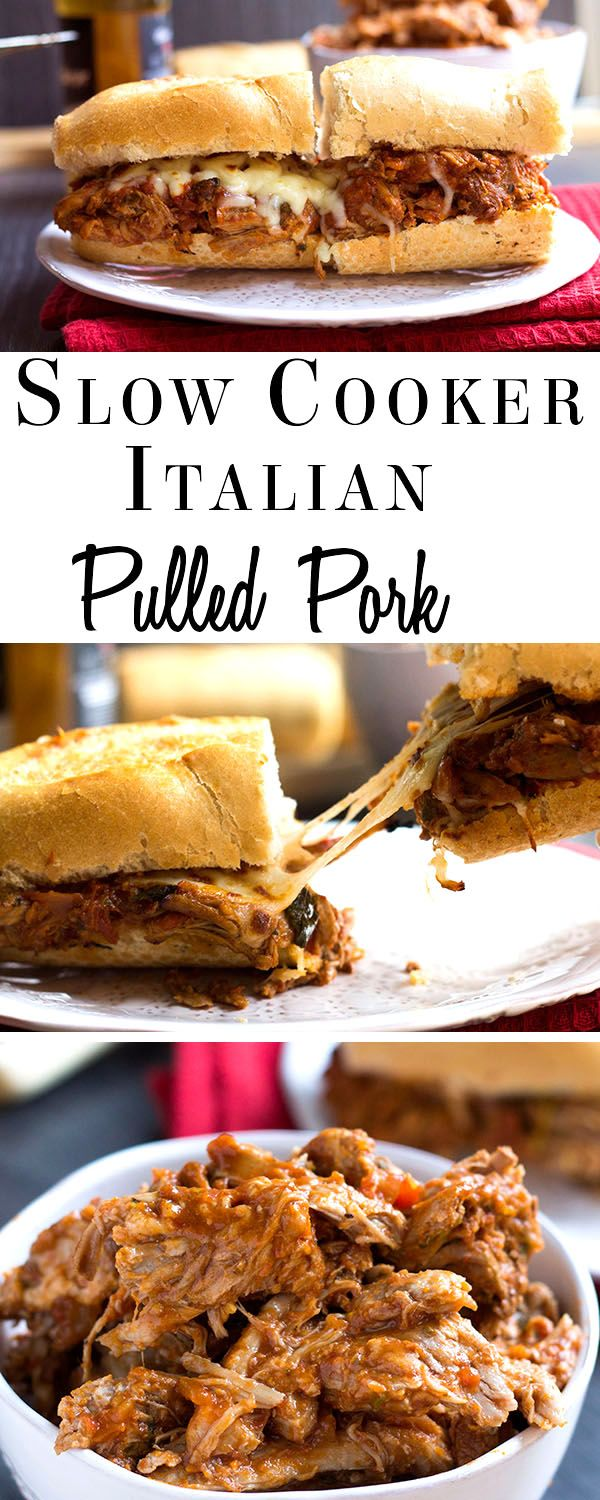 Italian Pulled Pork - Erren's Kitchen - Porkify your slow cooker with this recipe that can be served in a sandwich smothered in Mozzarella or with pasta - either way it's one fantastic dish! AD
