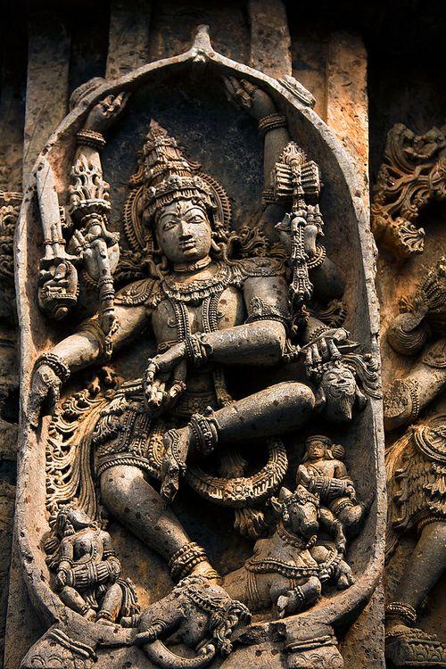 Lord Shiva Dancing, Halebid, Karnataka