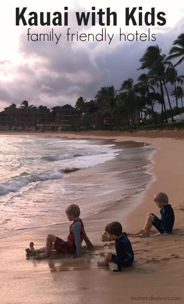 Kauai Family Friendly Hotels - nice overview & photos for hotel ideas on each side of the island!