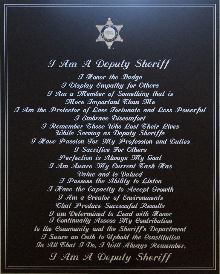 I Am a Deputy Sheriff at PDC-NCCF