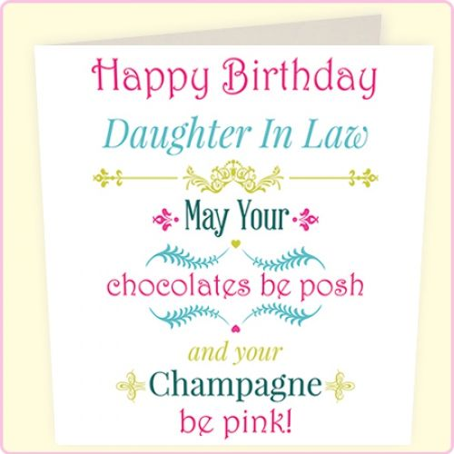 Daughter In Law Birthday Messages