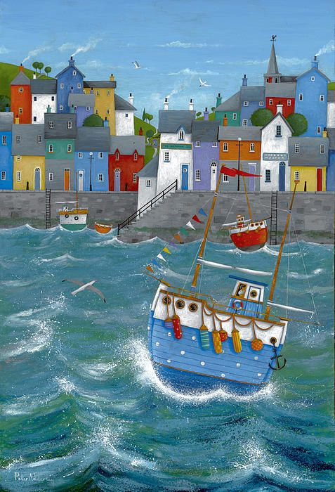 Quayside Print by Peter Adderley