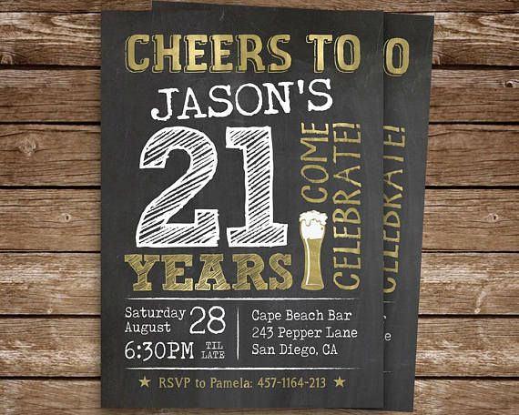 21st Birthday Invitation For Man Cheers To 21 Years Printable Etsy 21st Birthday Invitations 21st Party Digital Invitations
