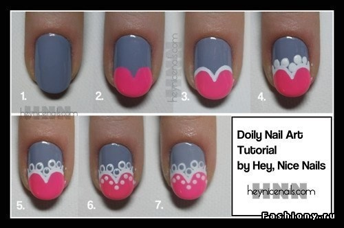 Really cute doilly nails