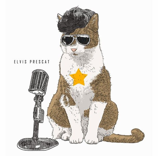 Via ConversaCult: Iconic Cats: Gatos como ícones da cultura pop  Elvis Prescat