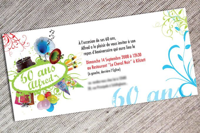 Carte Invitation Anniversaire 60 Ans Unique Carte Invitation