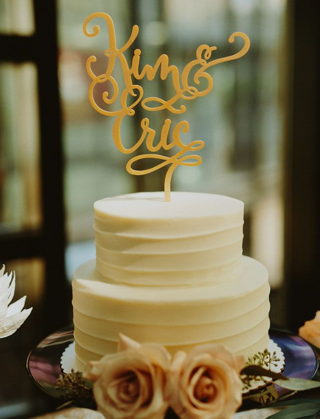 Cakes don't have to be over the top! Simple with a great cake topper is classic and will always be beautiful!