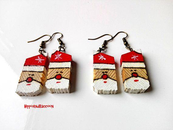 Christmas earrings Santa Claus Earrings Cute Christmas
