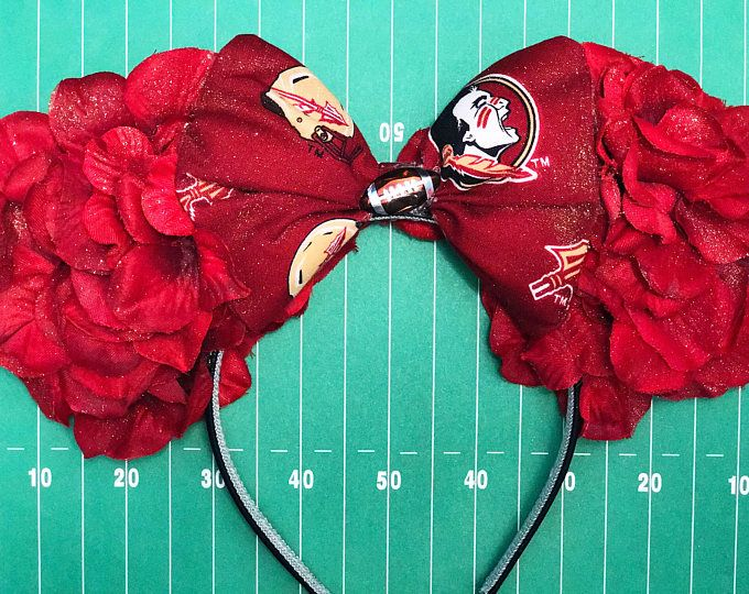 Florida State Inspired Floral Mouse Ears