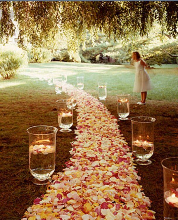 Aisle at wedding
