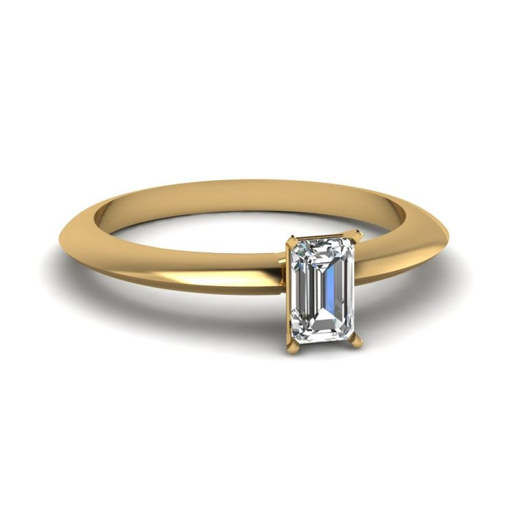 Half Carat Emerald Cut Diamond Engagement Ring