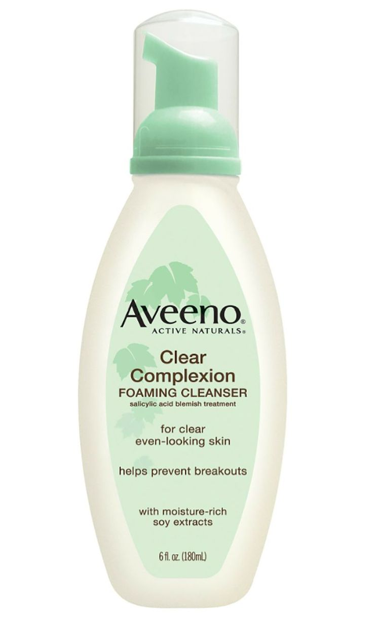 The Best Acne-Fighting Products on Drugstore Shelves - Aveeno Clear Complexion Foaming Cleanser  - from InStyle.com