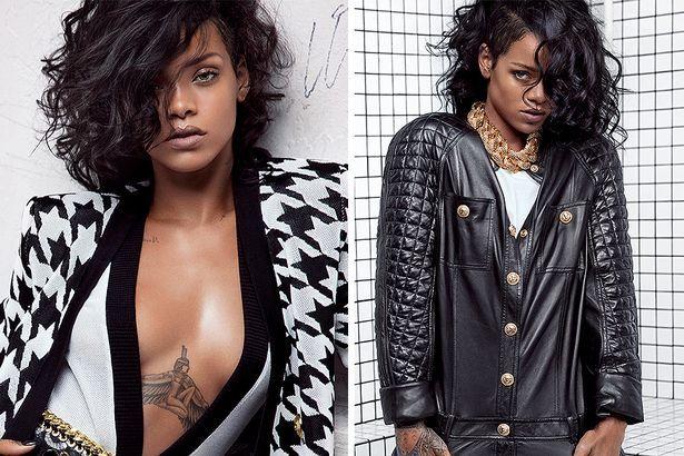 Rihanna in Balmain campaign