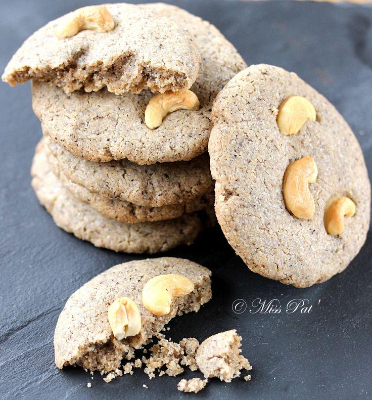 Cookies sans gluten et vegan (farine de riz et de sarrasin, huile de coco)