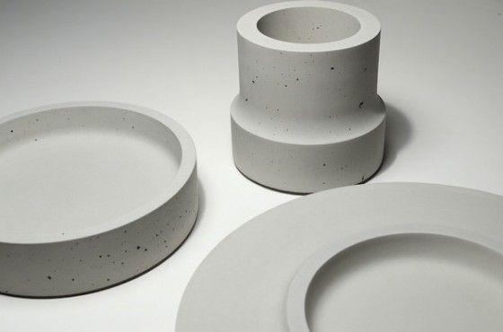 Concrete Vessels by Steven Pollock for Woodstone Designs